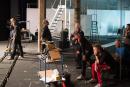 Nederland, Amsterdam, 2014'Erbarme dich', filmset Ramon Gieling, Schram studio, Amsterdam Noord, producent Key DocsFoto Bob Bronshoff