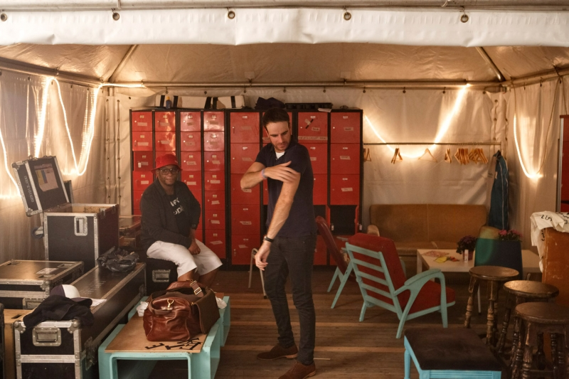 Nederland,Biddinghuizen, 2015 Henry van Loon Lowlands 2015, Hekwerk theaterproducties Foto: Bob Bronshoff